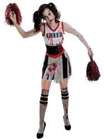 Adult Plus Size Zombie Cheerleader Costume