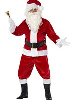 Adult Plush Santa Suit Costume [25963]
