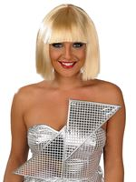 Adult Pop Superstar Blonde Wig