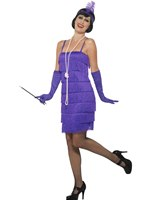 Adult Purple Flapper Costume