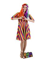 Adult Rainbow Dress Costume [FS4519]