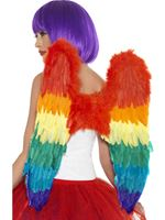 Adult Rainbow Feather Wings [43585]