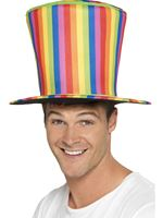 Adult Rainbow Top Hat [43584]