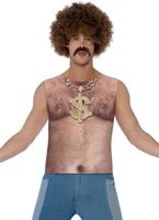 Adult Realistic 70s Hairy Chest Top