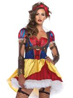 Adult Rebel Snow White Costume