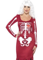 Adult Red Beauty Bones Costume