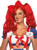 Adult Red Dolly Bob Wig [A2732R]
