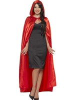 Adult Red Hooded Cape [45529]