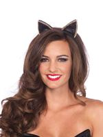 Adult Satin Cat Ear Headband [A2746]