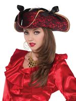 Adult Lace Pirate Hat
