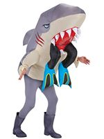 Adult Inflatable Shark with Legs Costume