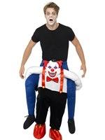 Adult Sinister Clown Piggy Back Costume [45201]