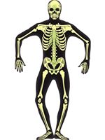 Adult Skeleton Glow in the Dark Second Skin Costume