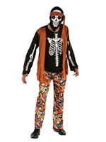 Adult Skeleton Hippy Costume