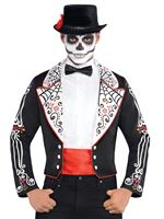Adult Day of the Dead Senor Tailcoat Jacket