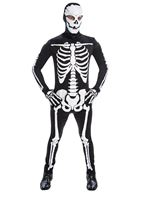 Adult Skeleton Jumpsuit Costume