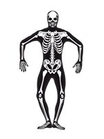 Adult Skeleton Second Skin Costume [24618]