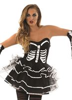 Adult Skeleton Tutu Dress Costume [FS3075]