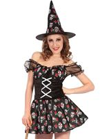 Adult Sugar Skull Witch Costume