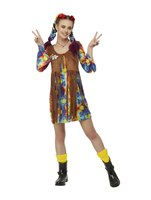 Adult Smiley Hippy Dress Costume [52332]