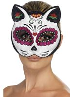 Adult Sugar Skull Cat Eye Mask