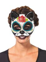 Adult Sugar Skull Cat Mask
