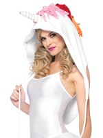 Adult Unicorn Fleece Hood