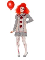 Adult Vintage Clown Lady Costume