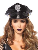 Adult Vinyl Police Hat [3761]