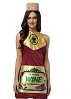 Adult Wine Bottle Dress Costume [4006333]