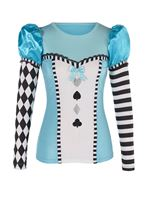 Adult Wonderland Alice Long Sleeve Top