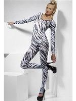 Adult Zebra Print Bodysuit [26803]