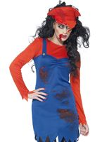 Adult Zombie Mario Plumber Female Costume