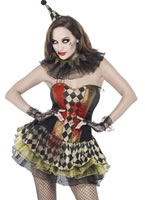 Adult Fever Creepy Zombie Clown Costume [43987]