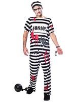 Adult Plus Size Zombie Convict Costume