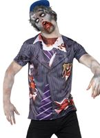 Adult Zombie School Boy T-Shirt Costume