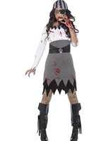 Adult Zombie Pirate Lady Costume