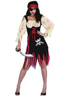 Adult Zombie Pirate Wench Costume