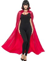 Adult's Red Satin Devil Cape