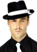 Al Capone Hat Black Flock [92415]