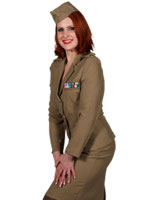 Adult Andrews Sisters American Army Costume [210107]