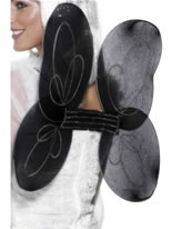 Angel Net Wings Black Silver