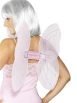 Angel Net Wings Pink Silver