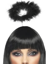 Angels Halo Black Marabou