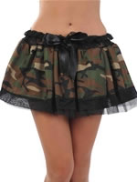 Adult Army Camouflage Tutu Skirt