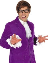 Adult Austin Powers Purple Costume