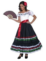 Adult Authentic Western Sexy Senorita Costume