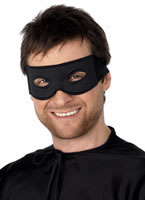 Bandit Eye Mask And Tie Scarf Black [99717]