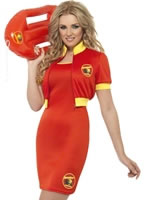 Ladies Baywatch Beach Lifeguard Costume
