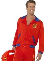 Adult Baywatch Beach Mens Lifeguard Costume
